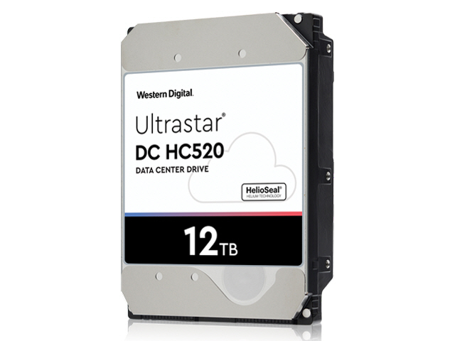 WD Ultrastar DC HC520 12TB SAS 12Gb/s 7.2K RPM 256MB 3.5in