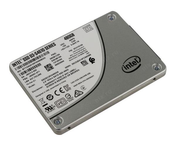 Intel® SSD D3-S4610 Series (240GB, 2.5in SATA 6Gb/s, 3D2, TLC)